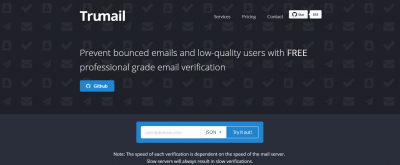 Trumail.io Review: Trusted Real Time Email Address Verification Tool