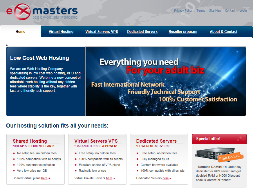 ExMaters Hosting Review: Best Low Cost Adult Web Hosting